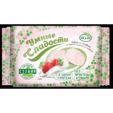 Зефир Клубника со сливками со Стевией 150 гр Умные Сладости