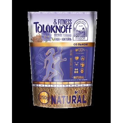 Каша из овсяного толокна с льняным семенем Fitness 250 гр Toloknoff