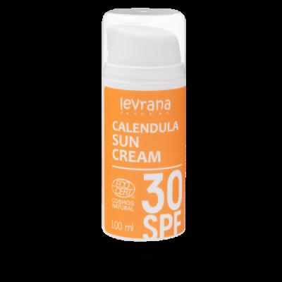 Солнцезащитный крем для тела Календула 30 SPF 100 мл Леврана