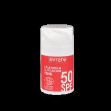 Солнцезащитный крем для тела Календула 50 SPF PINK 50 мл Леврана
