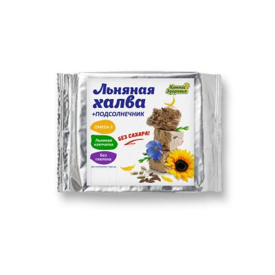 """Халва подсолнечно-льняная с семенами коричневого льна на фруктозе 250 гр  от Экомаркет """"Овсянка"""""""