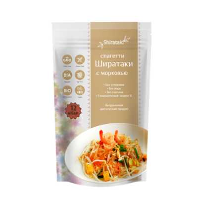 "Спагетти Ширатаки с Морковью  от Экомаркет ""Овсянка"""