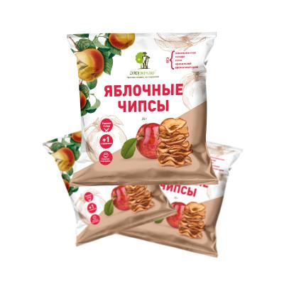 """Яблочные чипсы 25 гр Экофермер  от Экомаркет """"Овсянка"""""""