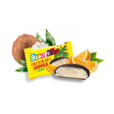 Кокосовое печенье с апельсином в глазури 40 гр Бьюти Фит