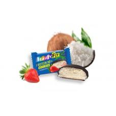 Кокосовое печенье с клубникой в глазури 40 гр Бьюти Фит