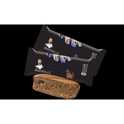 Батончик низкоуглеводный Аморале бар Грецкий орех и молочный шоколад 75 гр Бьюти Фит