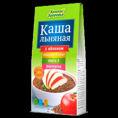 """Каша Льняная с яблоком 250 гр  от Экомаркет """"Овсянка"""""""