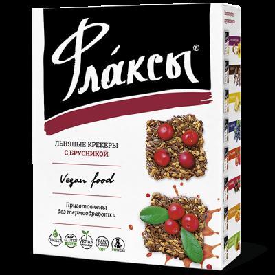 """Флаксы с Брусникой 150 гр  от Экомаркет """"Овсянка"""""""