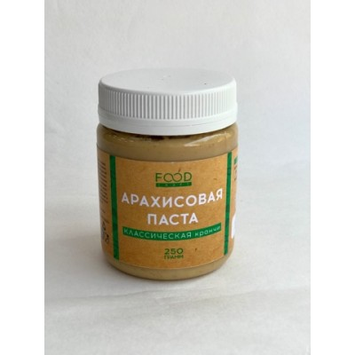 Паста Арахисовая Кранчи со стевией Фудкрафт 200 гр