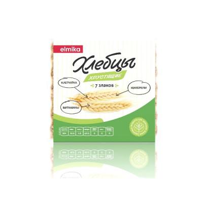 Хлебцы хрустящие 7 злаков 110 гр Эльмика