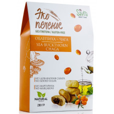 Эко-печенье без Глютена Облепиха, чага 280 гр Савита