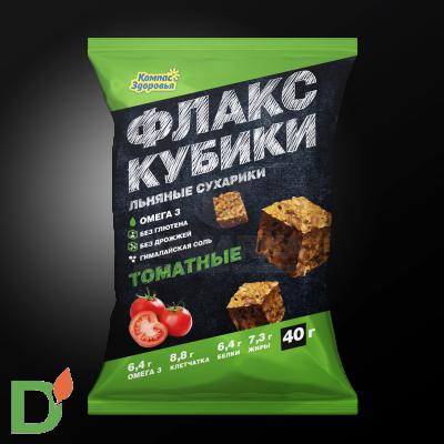 Флакс-кубики льяные с Томатом 40 гр Компас Здоровья