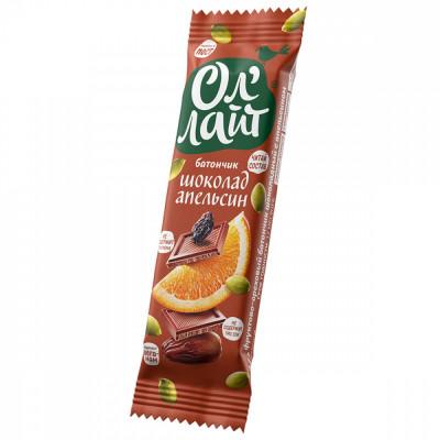 Батончик Оллайт Шоколадный с Апельсином 30 гр