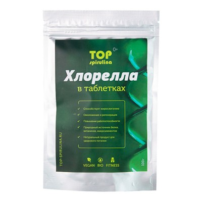 Хлорелла таблетки 100 гр Топ спирулина