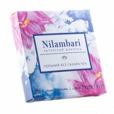 Шоколад Nilambari Горький без Сахара 92% 65 гр Гринмания