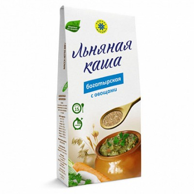 "Каша Льняная Богатырская  от Экомаркет ""Овсянка"""