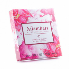 Шоколад Nilambari Белый на Кешью Ягода-Малина 65 гр Гринмания