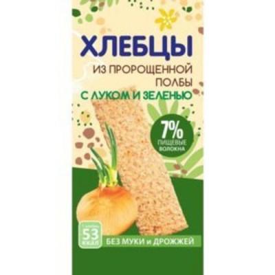 Хлебцы из пророщенной Полбы с Луком и Зеленью 120гр Эко-хлеб